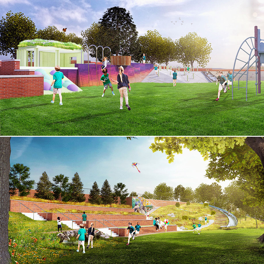 Alexandria Country Day School playground design | Rhodeside & Harwell