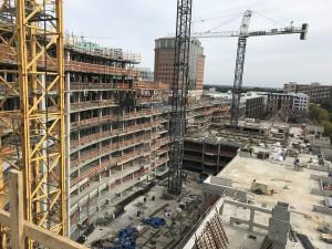East View of Construction site – 2nd Floor Courtyard below